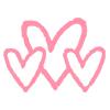 Les Câlinettes 3 coeurs